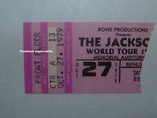 MICHAEL JACKSON 1979 Concert Ticket Stub BUFFALO NY Jacksons World Tour RARE
