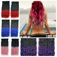 Long Afro kinky Curly Ombre Synthetic Ponytail Clips In Hair Extension Wave hair