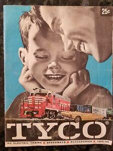 vintage 1965 Tyco HO Train Catalog original railroad  slot cars speedway sets