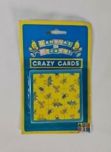 New - Vintage 1994 ABC Bananas In Pyjamas Crazy Cards Magic Square Puzzle Game