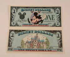 1989 Disney Dollar Uncirculated $1. Series DA - Mickey Mouse & Castle