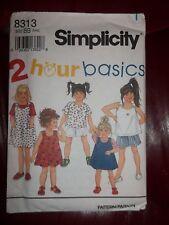 Simplicity Easy 2 Hour Basics Pattern 8313 Girls Dress Top Shorts SZ 5 - 6X New