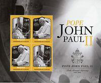 Bequia Grenadines St Vincent 2015 MNH Pope John Paul II 10th Memorial Ann 4v M/S