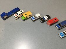 Vintage Lot  6 OLD DIECAST Majorette  AS IS POLICE FOURGON CAMPING CAR TRANSPORT