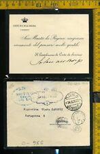 Regno franchigia postale O 986 Reali annullamenti Roma Quirinale
