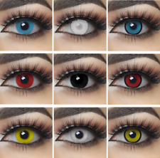 2020 Design  Coloured Contact Lenses Halloween Cosplay + Free Case UK Seller NEW