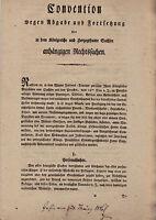 Convention 1816 wegen Abgabe und Fortsetzung anhängiger Rechtssachen--Druck 11S.