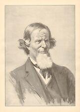 A.B. Frost, Deacon Featherpole, Character Portrait, Vintage, Antique Art Print,
