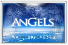 JUMBO FRIDGE MAGNET - ANGELS WATCHING OVER US - HEAVEN JESUS GOD BIBLE CHRISTIAN