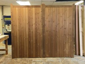 Pair of Thermowood (thermally Modified Timber) Driveway Gates. Made to Measure