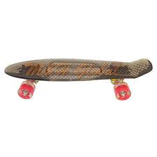 Short Board Transparent Skateboard Cruiser Light Up Wheels - Clear Black