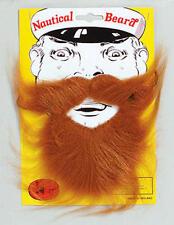 Brown Beard & Moustache Set Boat Captain Sailor Pirate Nautical Fancy Dress
