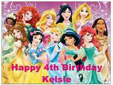 "Disney Princess A4 Personalised Cake Topper Edible Wafer Paper 7.5"" by 10"""