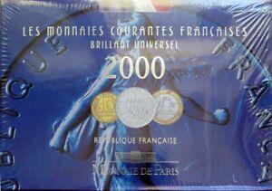 F5200.27 - COFFRET BU - FRANCS - 2000 - 1 centime à 20 francs - sous blister