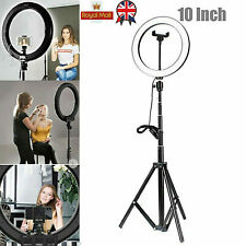 """10""""LED Ring Light with 1.6/2M Stand for Youtube Tiktok Makeup Video Phone Selfie"""