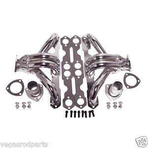Chrome Steel Chevy Block Hugger Headers 283 305 350 400 Small Chevrolet