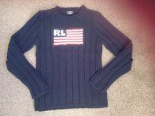 BNWOT ladies S RALPH LAUREN Polo USA stars stripes flag navy jumper RRP £129