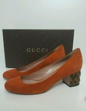 Bnwb GORGEOUS!Gucci Scamosciato block bamboo heel shoes/pumps.rust.uk 6/39