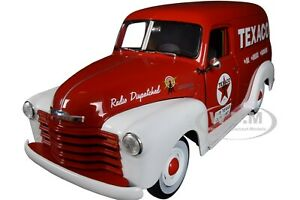 """1948 CHEVROLET PANEL DELIVERY TRUCK """"TEXACO"""" 1/18 DIECAST CAR BY AUTOWORLD AW248"""