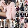 Women's Fluffy Faux Fur Jacket Warm Outwear Windproof Coat Vest Waistcoat Winter