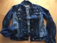 Girls Juniors Pattern Panel Denim Jean Jacket Abercrombie Kids Size Xl 16 $60