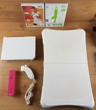 Nintendo Wii Console White Wii Fit Bundle Active Personal Trainer Wii Fit Board