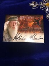 Harry Potter and the Goblet Of Fire Autograph Card Artbox Albus Dumbledore