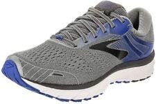Brooks Men's Adrenaline GTS 18 Running Shoe, Grey/Blue/Black, 7 2E(W) US