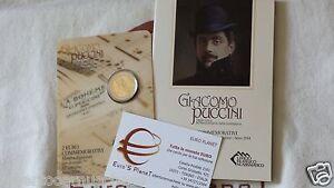folder coffret 2014 2 euro SAN MARINO Saint Marin 90 morte Giacomo PUCCINI