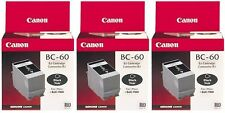 LOT OF 3 x Canon Genuine/Original Black Ink Cartridge BC60/BC-60 clearance sale!