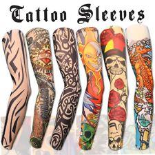 Arm Tattoo Sleeve Nylon Elastic Slip Looks real easy on off (6pcs mixed color)