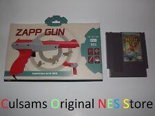 ZAPPER GUN CONTROLLER WITH NINTENDO NES BAYOU BILLY GAME & 30 DAY GUARANTEE