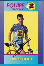 CYCLISME carte cycliste LAURENT BEZAULT équipe Z 1992 signée