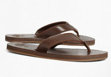 NEW Brooks Brothers Leather Flip-Flops Mens Size 11 NWT