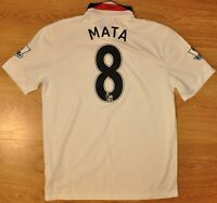 MANCHESTER UNITED 2014/2015 AWAY FOOTBALL SHIRT JERSEY NIKE #8 MATA SIZE L ADULT
