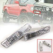 Fit Land Cruiser FJ80 LC80 4500 Clear Turn Signal Light Front Bumper Indicator