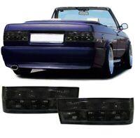 2 FEUX ARRIERE NOIR TRANSLUCIDE BMW SERIE 3 E30 PHASE 2 DE 09/1987 A 1991