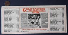 1932 Great Eastern Shortline Bus or Streetcar service calendar ink blotter-Cool*