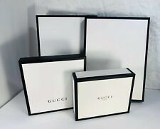 Brand empty gift shop box Gucci Black and White lot of 4