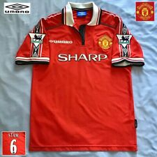 Original Manchester United Football Shirt Jaap Stam UMBRO 1998 Vintage Jersey