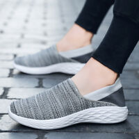 Mens Slip-On Casual Comfort Walking Shoe Knit Tennis Shoes Lightweight Sneakers