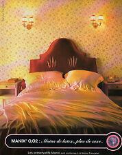 Publicité Advertising 1998  MANIX  0,02 Moins de latex , Plus de sexe