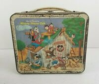 Vintage Walt Disney Mickey Mouse Club Mouseketeers Metal LunchBox