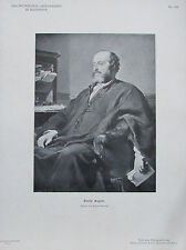 Emile Augier - Originaldruck aus 1898 Porträt alter Druck print