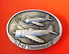 Vintage 1986 P-47 Thunderbolt Belt Buckle