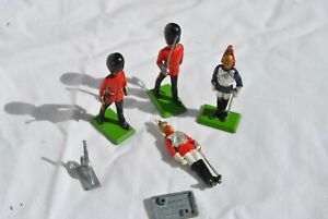 Vintage Lead & Tin Toy Soldiers Britains England 1966 Lot of 4 Nostalgia