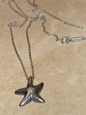 Tiffany & Co. Elsa Peretti Starfish Diamond Sterling Silver Necklace Pendant