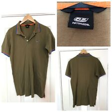 Fiftyfivedsl Diesel Family Polo Neck T Shirt Mens Size Large L Green (C637)