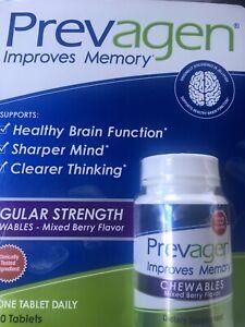 Prevagen Regular Strength Chewables Mixed Berry Flavor 30 Tablets