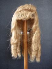 "100% Human Hair DOLL WIG - HC size 11"" - Curls and fringe - G.BRAVOT FRANCE"